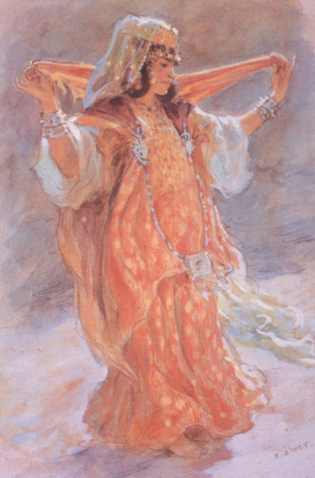 A Dancer Of The Ouled Nail.  1890.  Etienne Dinet.