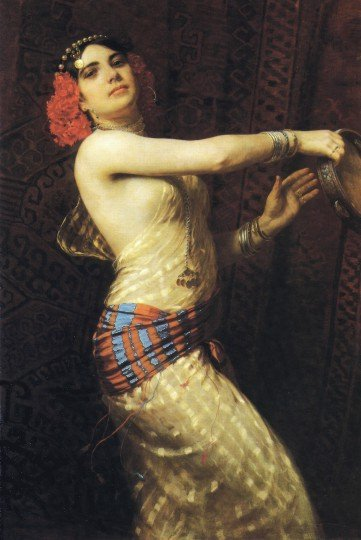 Tambourine Dancer 1909 by Otto Pilny