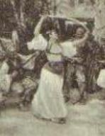 Sword dance by Paul Jovanowits. postcard. 1901.