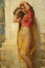 Harem Girl with Tambourine by Joseph Bernard